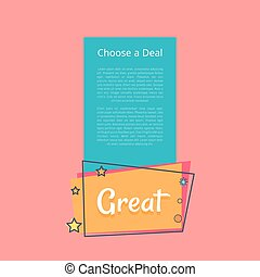 Choose Deal Great Sale Promotional Banner Text