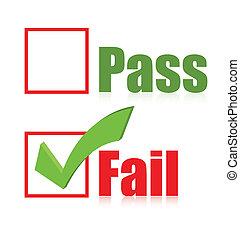 choose fail box illustration design