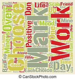 Choose Happiness text background word cloud concept