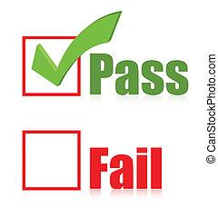 choose Pass box illustration design