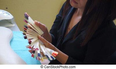 Choose the color of nail polish