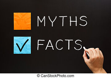 Choose The Facts Over The Myths Concept