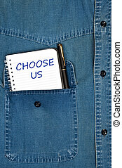 Choose us message