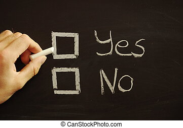 choose yes or no