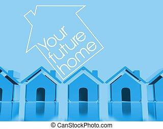 Choose your home 3d conceptual illustration