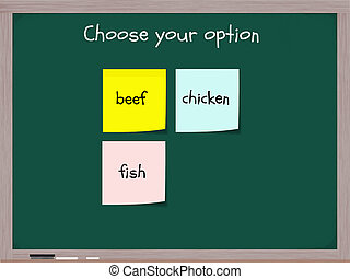Choose Your Option for Dinner