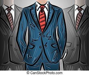 Choosing a leader businessman vector illustration
