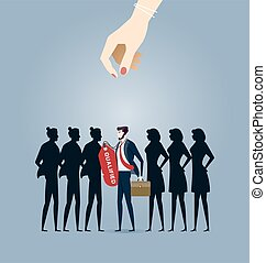 Choosing best candidate. Business Concept vector