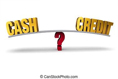 Choosing Between Cash or Credit
