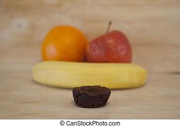Choosing between unhealthy and healthy foods