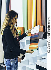 Choosing fabric from swatch