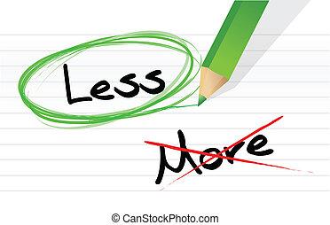 Choosing less instead of more. illustration design over...