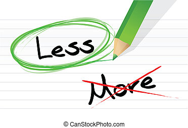 Choosing less instead of more. illustration design over...