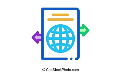 choosing place to go Icon Animation. color choosing place to go animated icon on white background