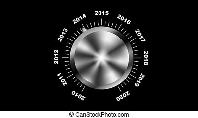 Choosing year 2012 - Rotating button selecting year 2012