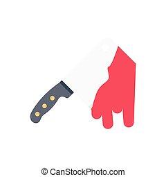 chop  flat color icon
