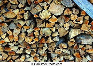 Choped wood