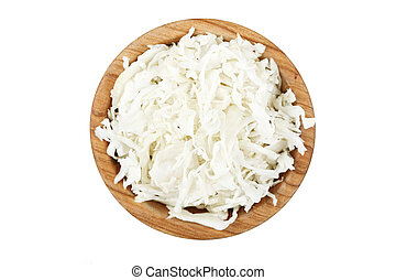 chopped cabbage isolated - chopped cabbage in a plate...