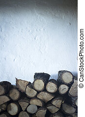 Chopped firewood for house fireplace...