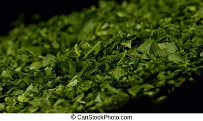 Chopped fresh parsley - Chopped parsley leaves. Fresh raw...
