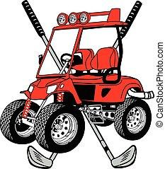 chopped golf cart