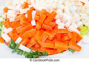 chopped, grønsag, mangfoldigheder