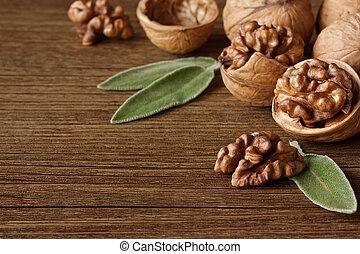 Chopped walnuts.