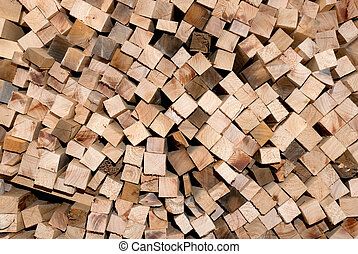 Chopped wood for the fireplace