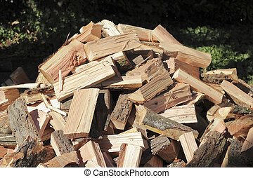 Chopped Wood Pile Outside