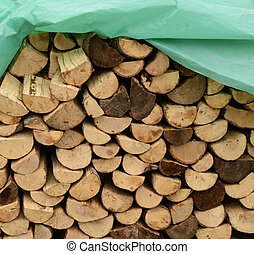 Chopped wood ready for winter