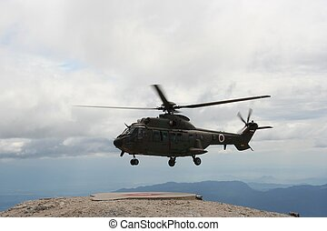 Chopper at take off
