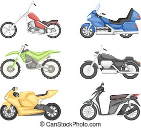 Chopper, cruiser sport bike and others types of motorcycles....