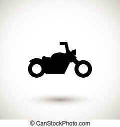 Chopper motorcycle icon isolated on grey. Vector...