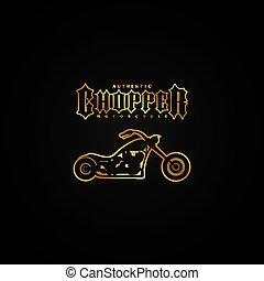 chopper motorcycle logotype theme vector art illustration