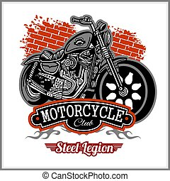Chopper Motorcycle typography - t-shirt vectors graphic -...