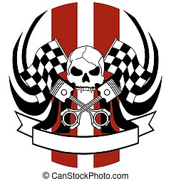 chopper skull tattoo insignia1