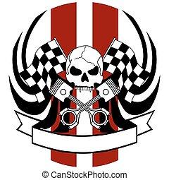 chopper skull tattoo insignia1