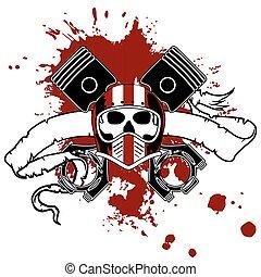 chopper skull tattoo insignia2