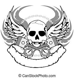chopper skull tattoo insignia3