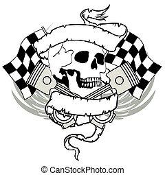 chopper skull tattoo insignia4
