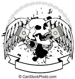 chopper skull tattoo insignia5