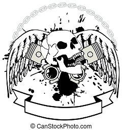 chopper skull tattoo insignia5