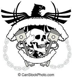 chopper skull tattoo insignia6
