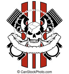 chopper skull tattoo insignia7