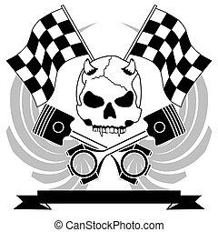 chopper skull tattoo insignia8