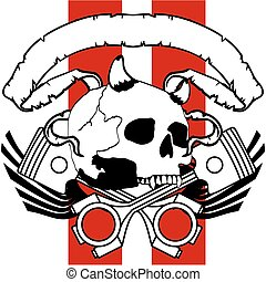chopper skull tattoo insignia9