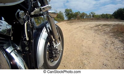 Chopper whell - Motorbike on bad road