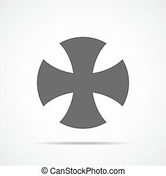 Choppers cross icon. Vector Illustration
