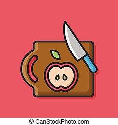 Chopping block doodle