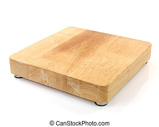 A chopping board isolated against a white background